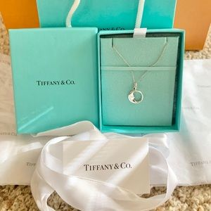 Tiffany & Co Man on the Moon Silver Necklace